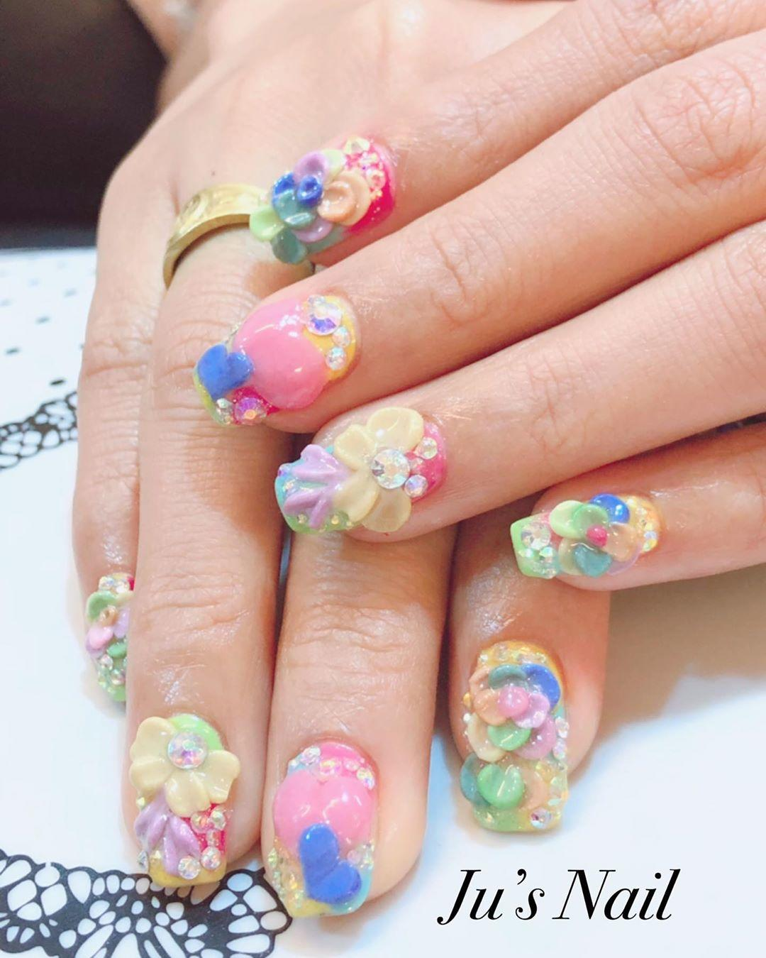 17 must see ideas for acrylic nail designs 2019 8 - 17 Must See Ideas forAcrylic Nail Designs 2019