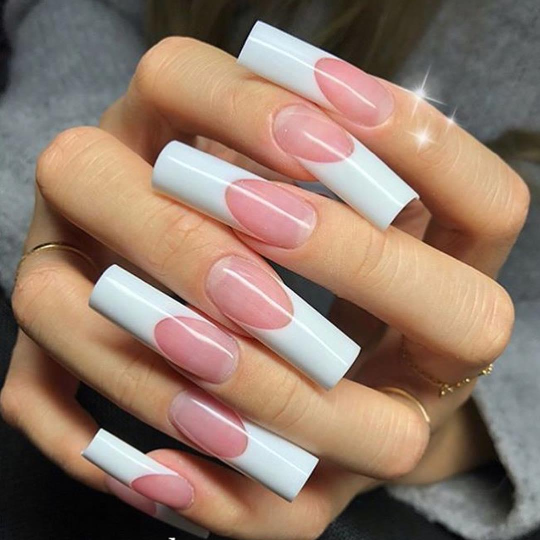 22 french manicure ideas and designs 2019 21 - 22 French Manicure Ideas and Designs 2019