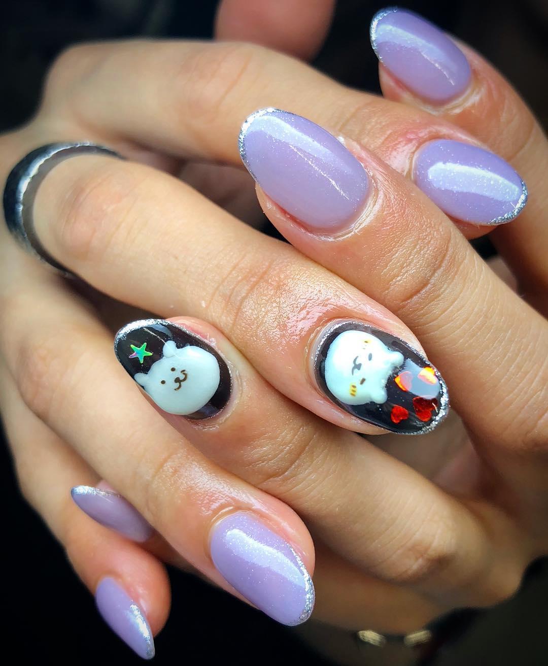 amazing 3d nail art ideas 2019 14 - 17 Amazing 3D Nail Art Ideas 2019