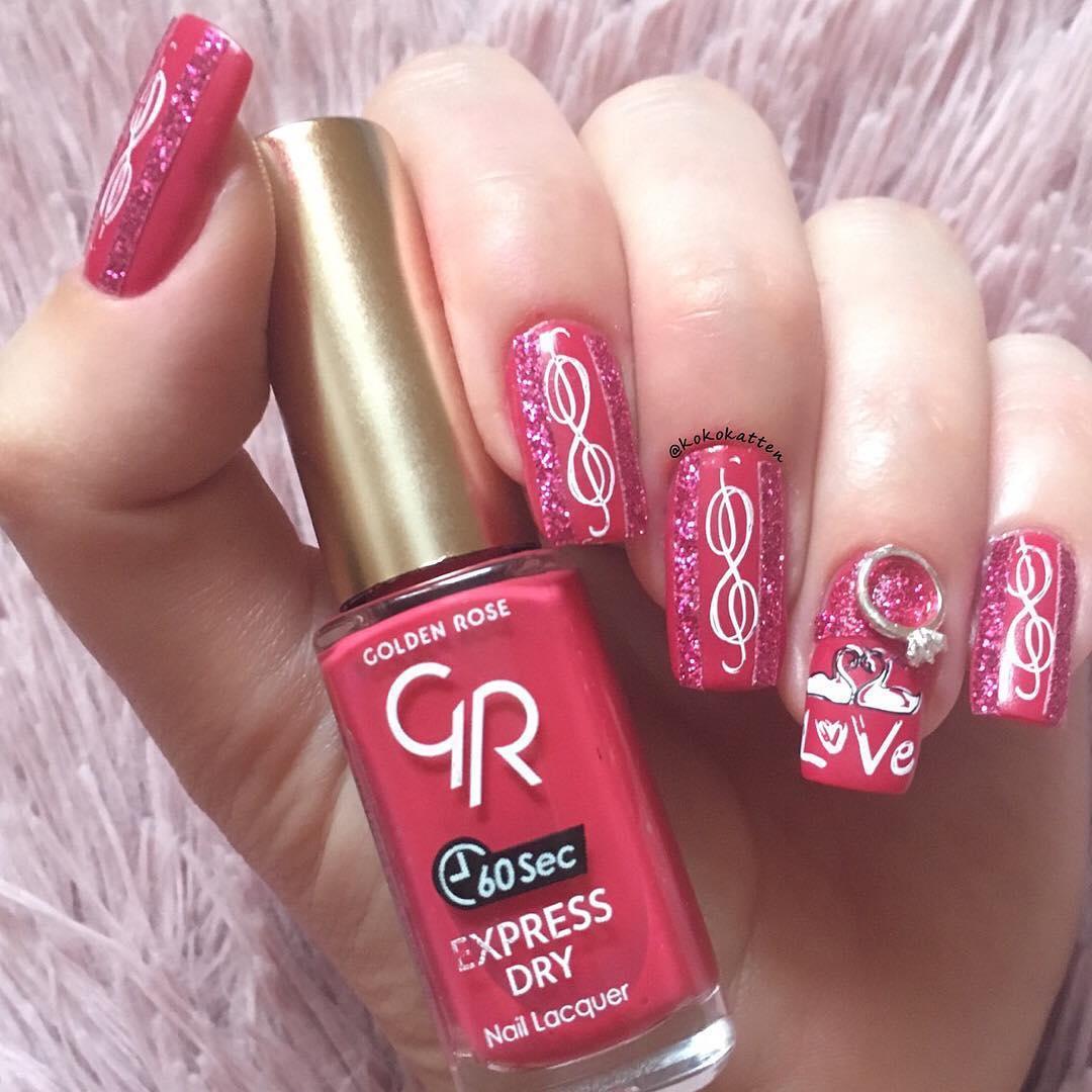 amazing valentines nail art designs 2019 12 - 12 Amazing Valentine's Nail Art Designs 2019