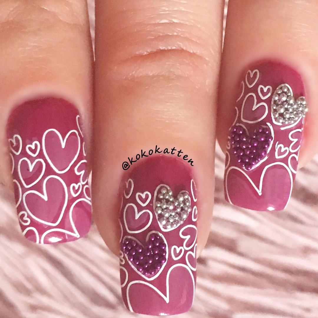 amazing valentines nail art designs 2019 3 - 12 Amazing Valentine's Nail Art Designs 2019
