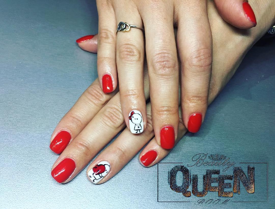 amazing valentines nail art designs 2019 5 - 12 Amazing Valentine's Nail Art Designs 2019