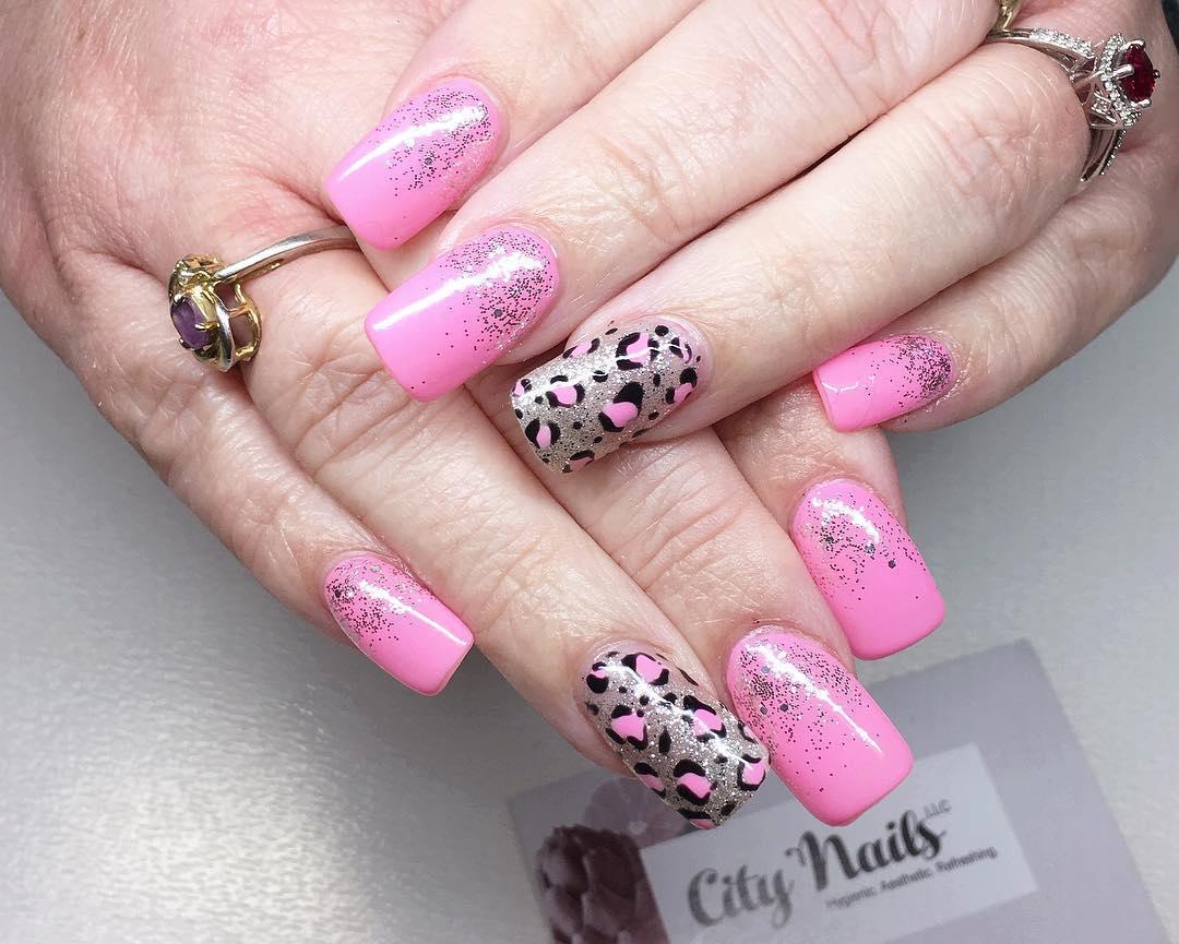 cheetah nail art designs and ideas for 2019 13 - 25 Cheetah Nail Art Designs and Ideas for 2019