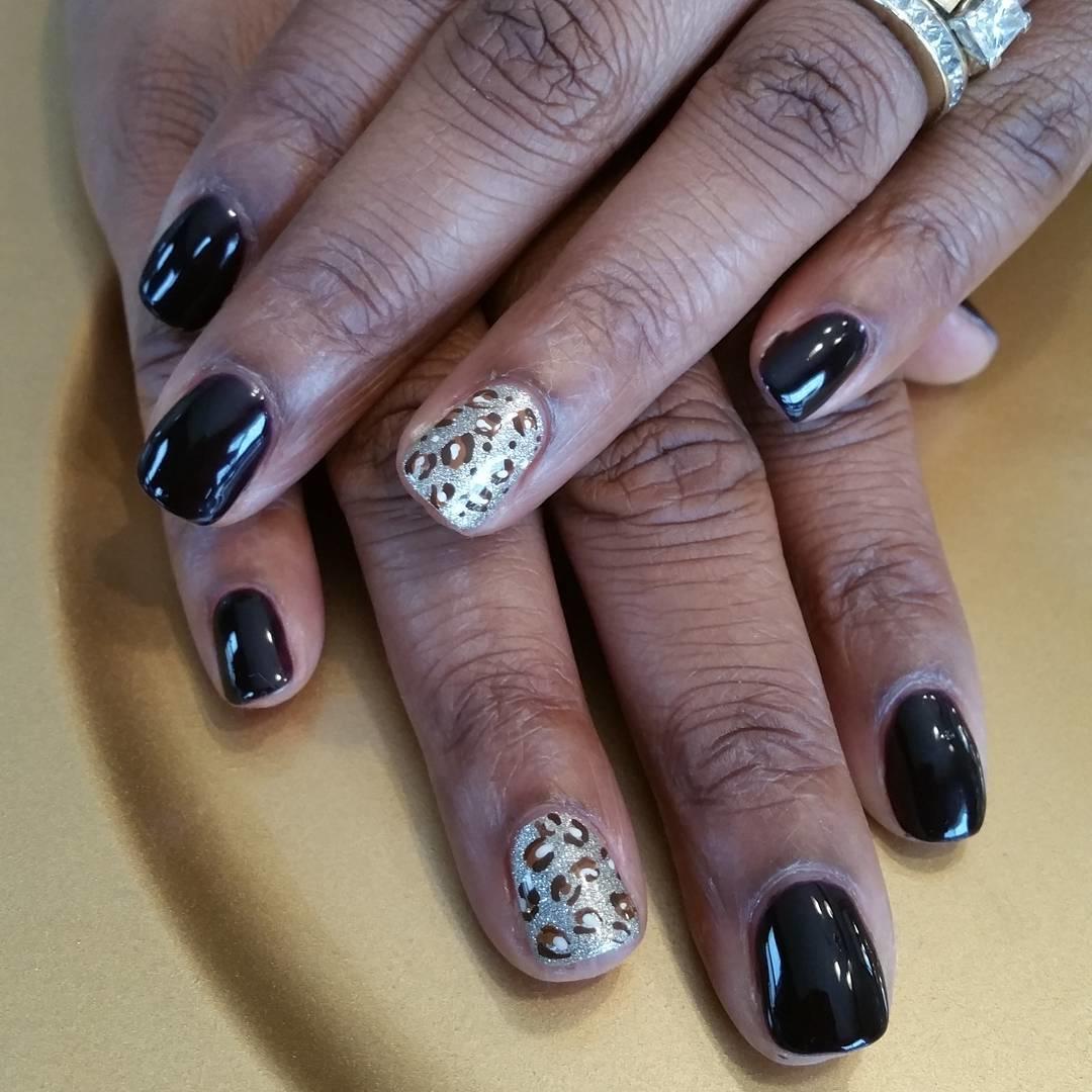 cheetah nail art designs and ideas for 2019 14 - 25 Cheetah Nail Art Designs and Ideas for 2019