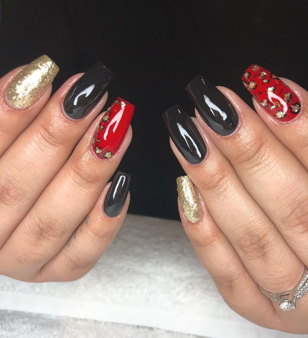 cheetah nail art designs and ideas for 2019 2 - 25 Cheetah Nail Art Designs and Ideas for 2019