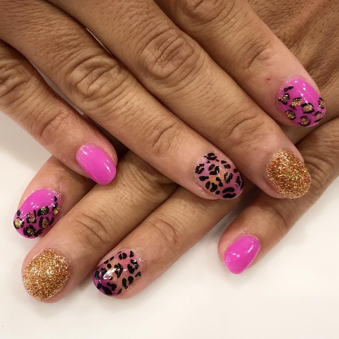cheetah nail art designs and ideas for 2019 3 - 25 Cheetah Nail Art Designs and Ideas for 2019