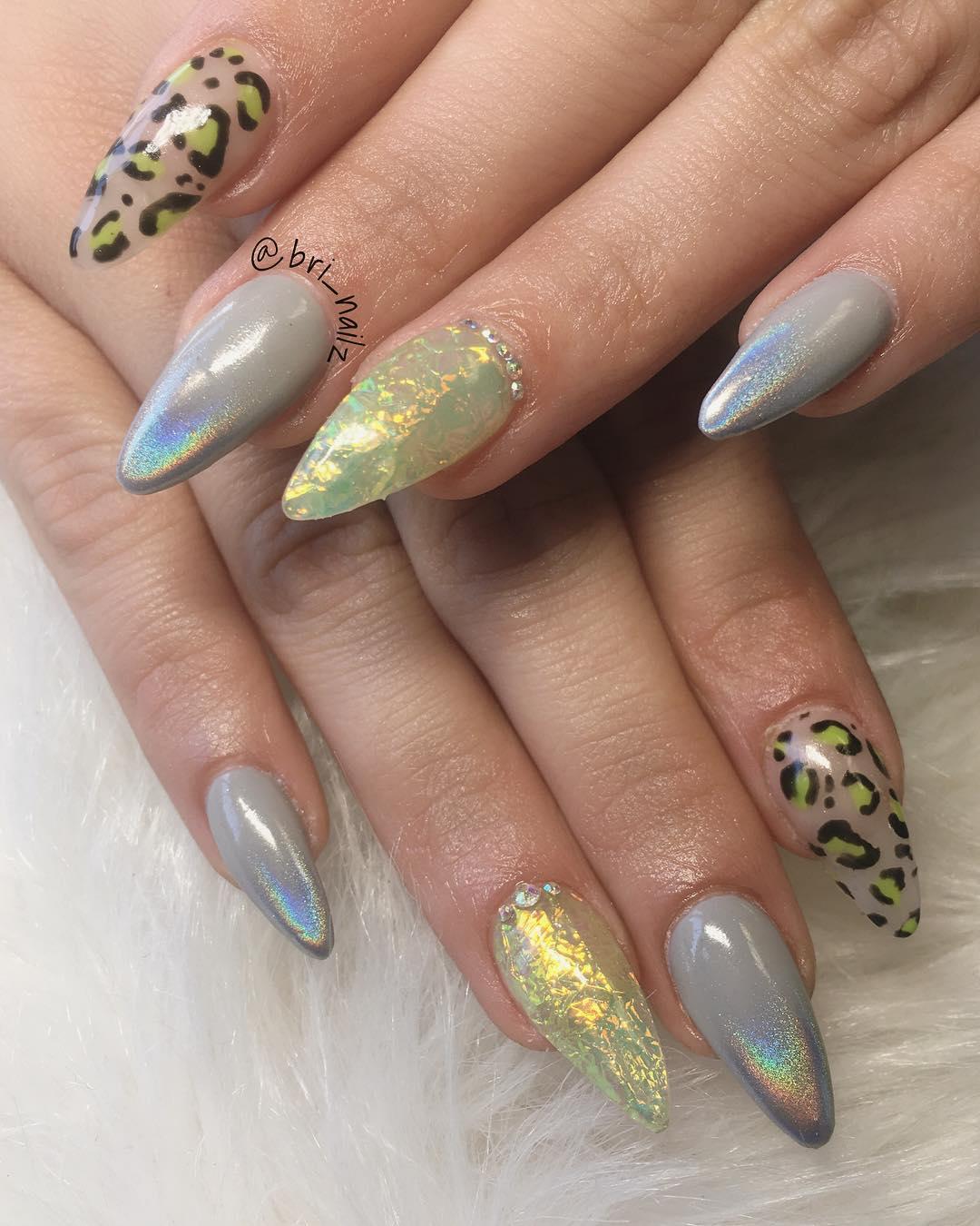 cheetah nail art designs and ideas for 2019 5 - 25 Cheetah Nail Art Designs and Ideas for 2019