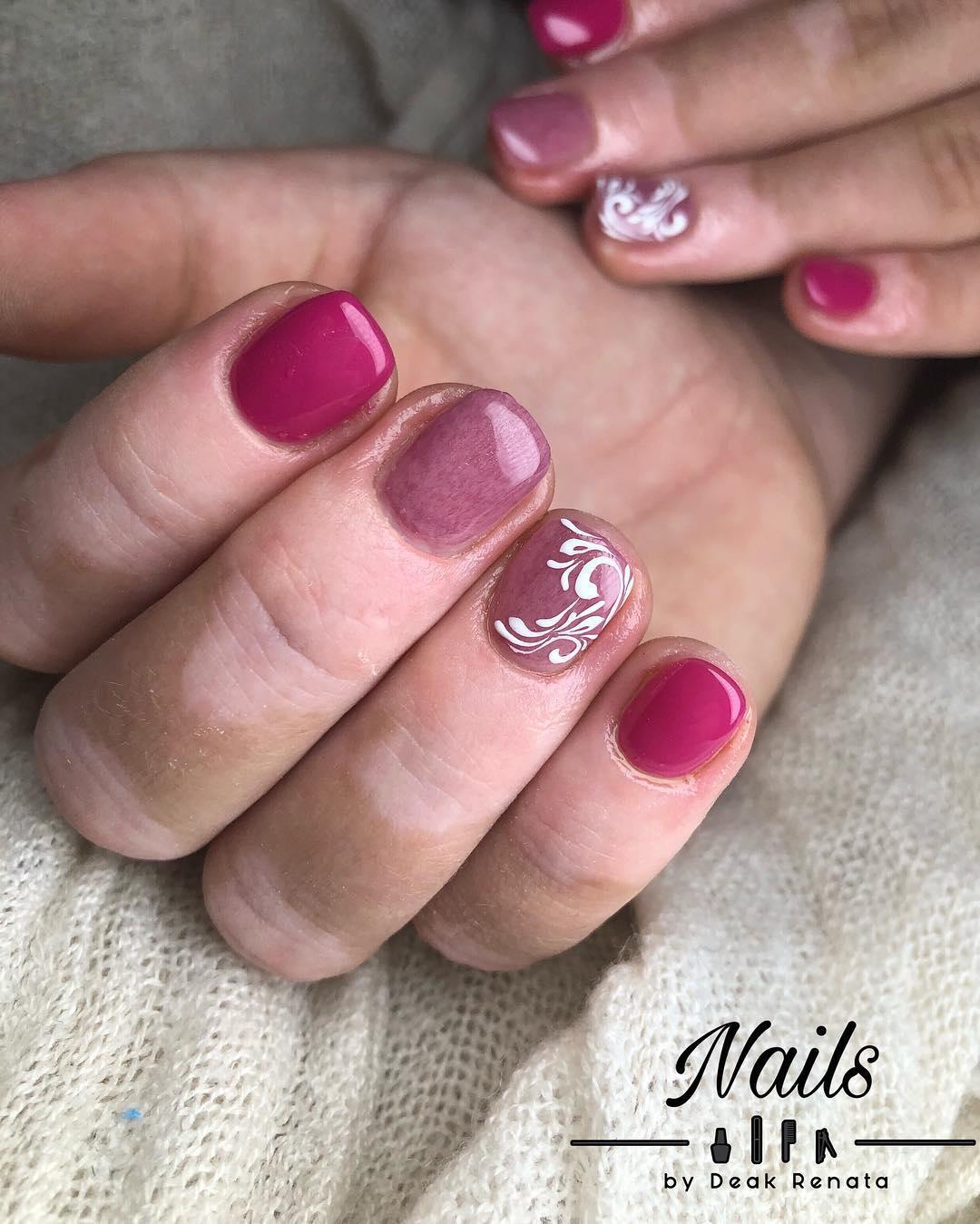 cool pink nail designs 2019 12 - 21 Cool Pink Nail Designs 2019