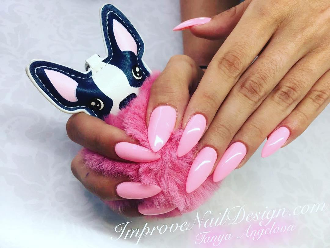 cool pink nail designs 2019 18 - 21 Cool Pink Nail Designs 2019