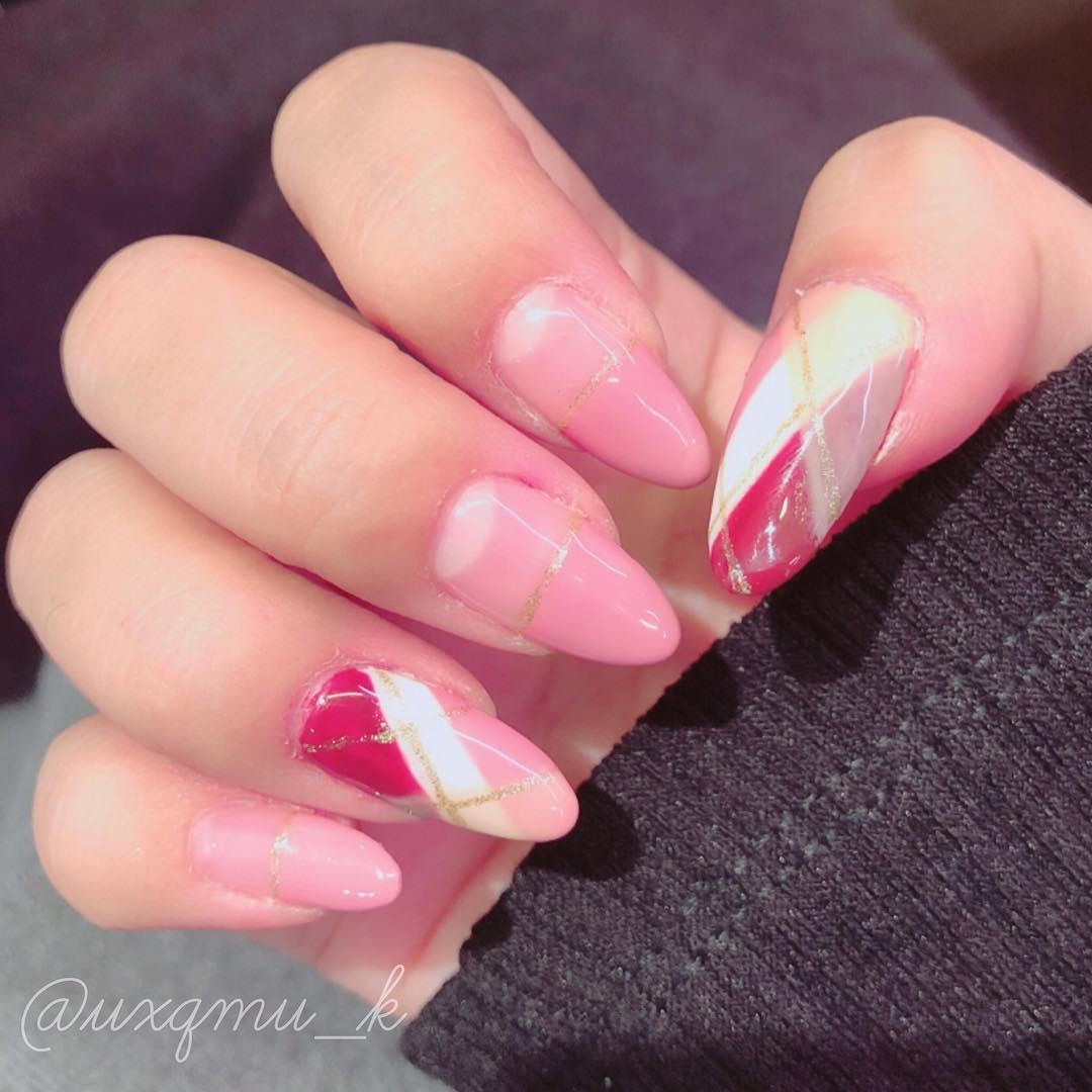 cool pink nail designs 2019 19 - 21 Cool Pink Nail Designs 2019