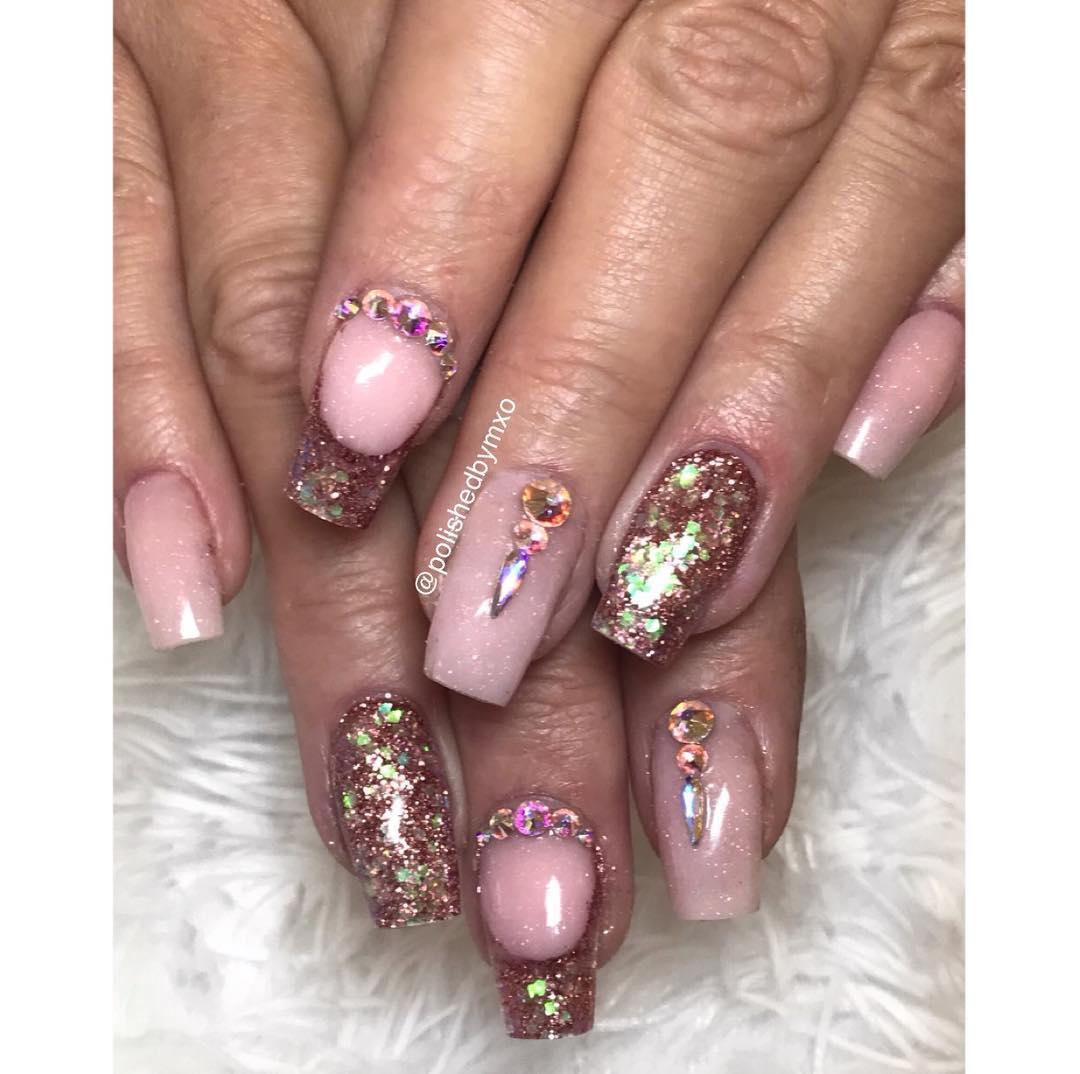 cool pink nail designs 2019 2 - 21 Cool Pink Nail Designs 2019