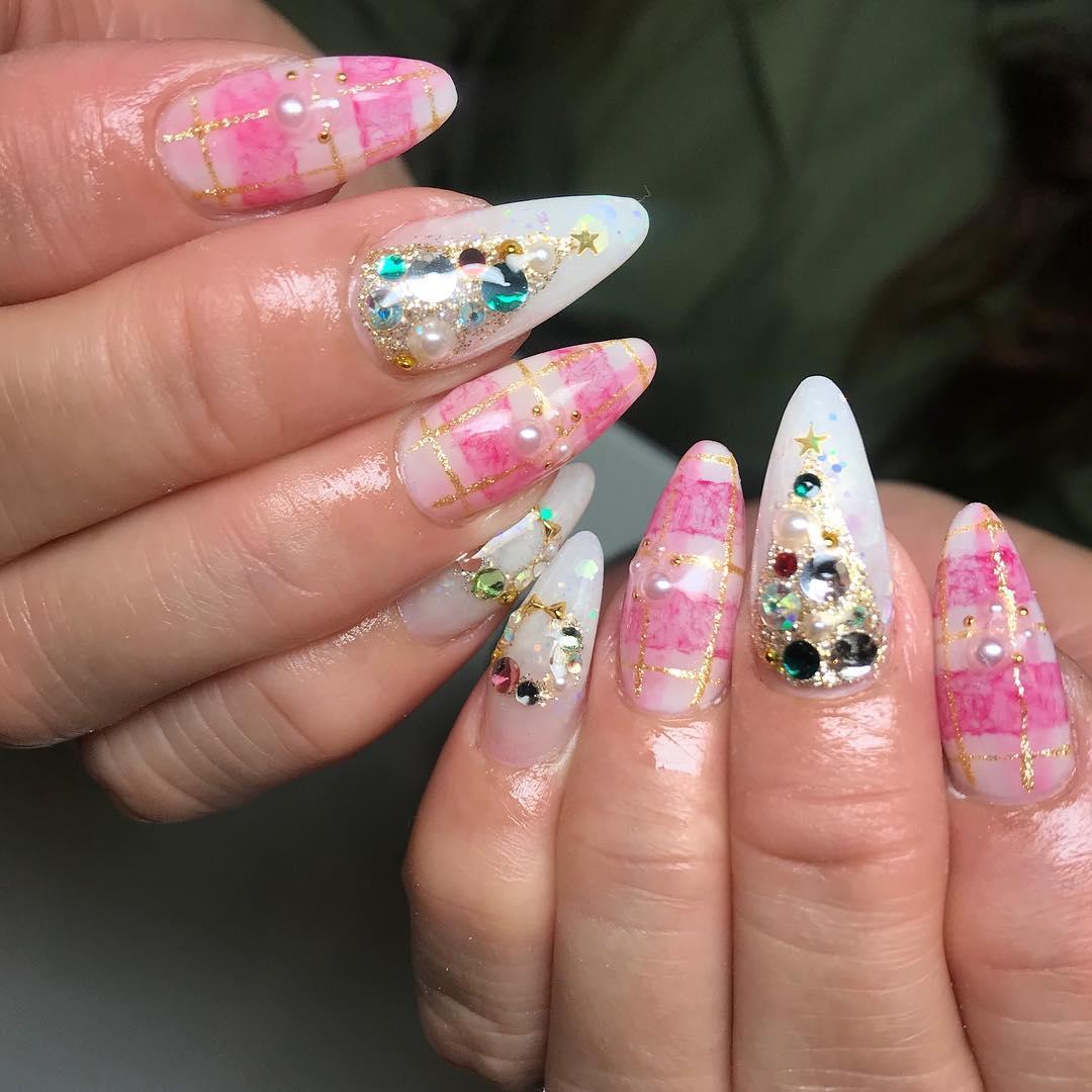 cool pink nail designs 2019 6 - 21 Cool Pink Nail Designs 2019