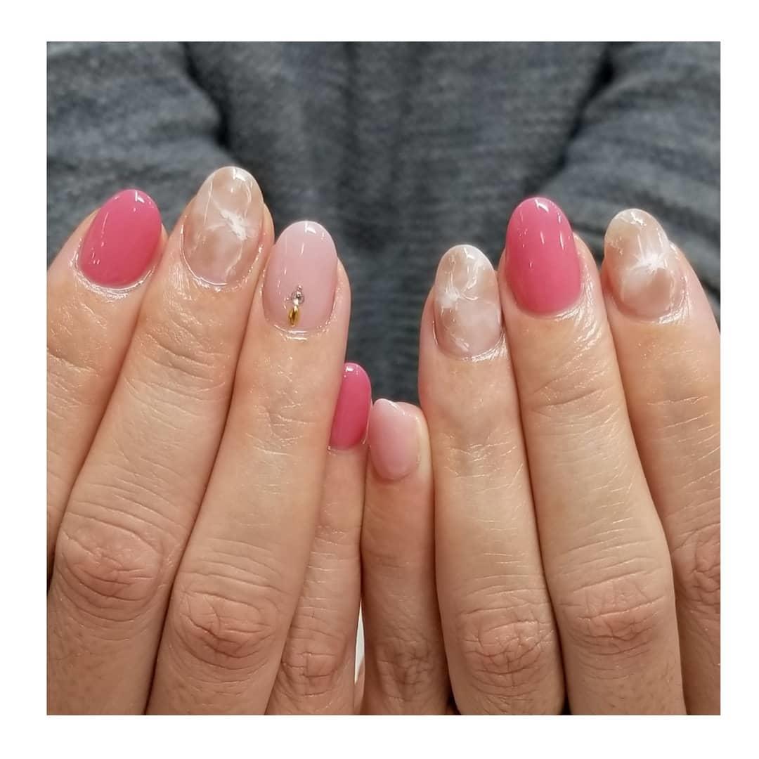 cool pink nail designs 2019 8 - 21 Cool Pink Nail Designs 2019