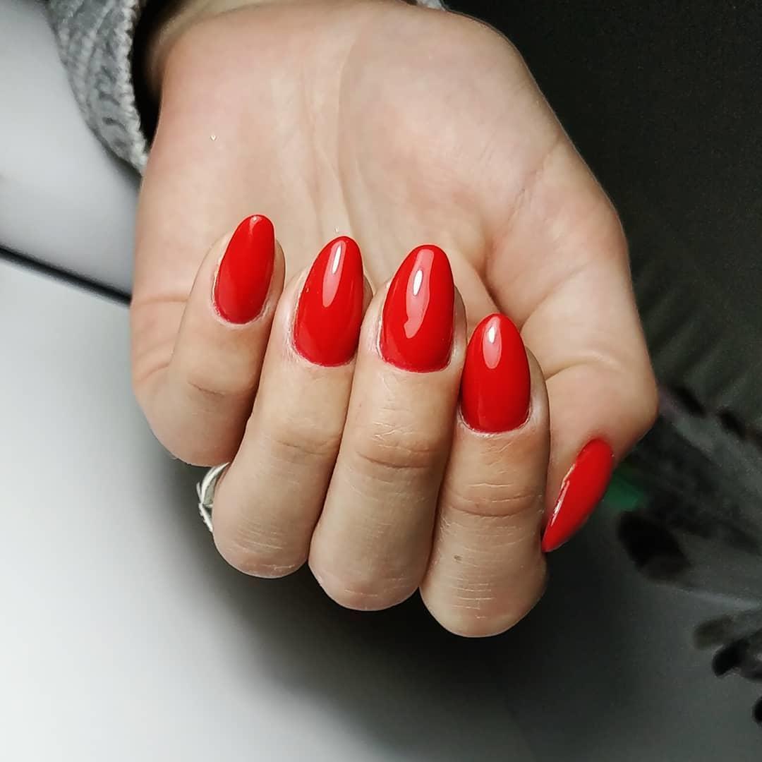 creative red nail design ideas 2019 1 - 20 Creative Red Nail Design Ideas 2019