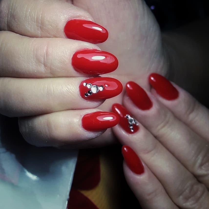 creative red nail design ideas 2019 10 - 20 Creative Red Nail Design Ideas 2019