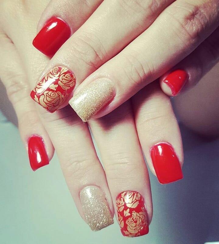 creative red nail design ideas 2019 11 - 20 Creative Red Nail Design Ideas 2019