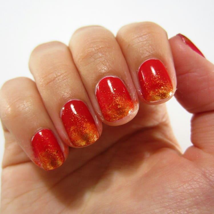 creative red nail design ideas 2019 13 - 20 Creative Red Nail Design Ideas 2019