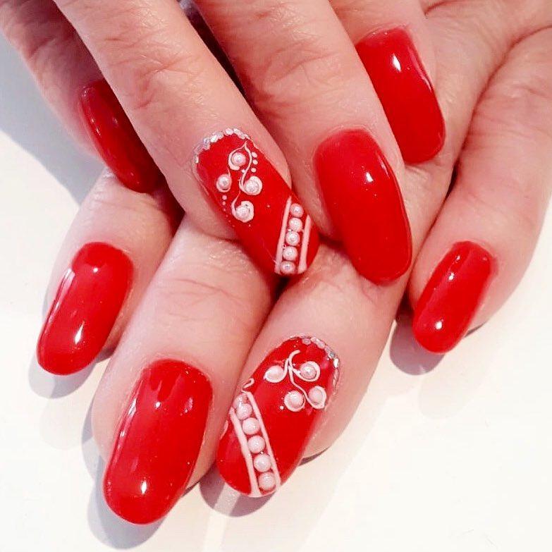 creative red nail design ideas 2019 14 - 20 Creative Red Nail Design Ideas 2019