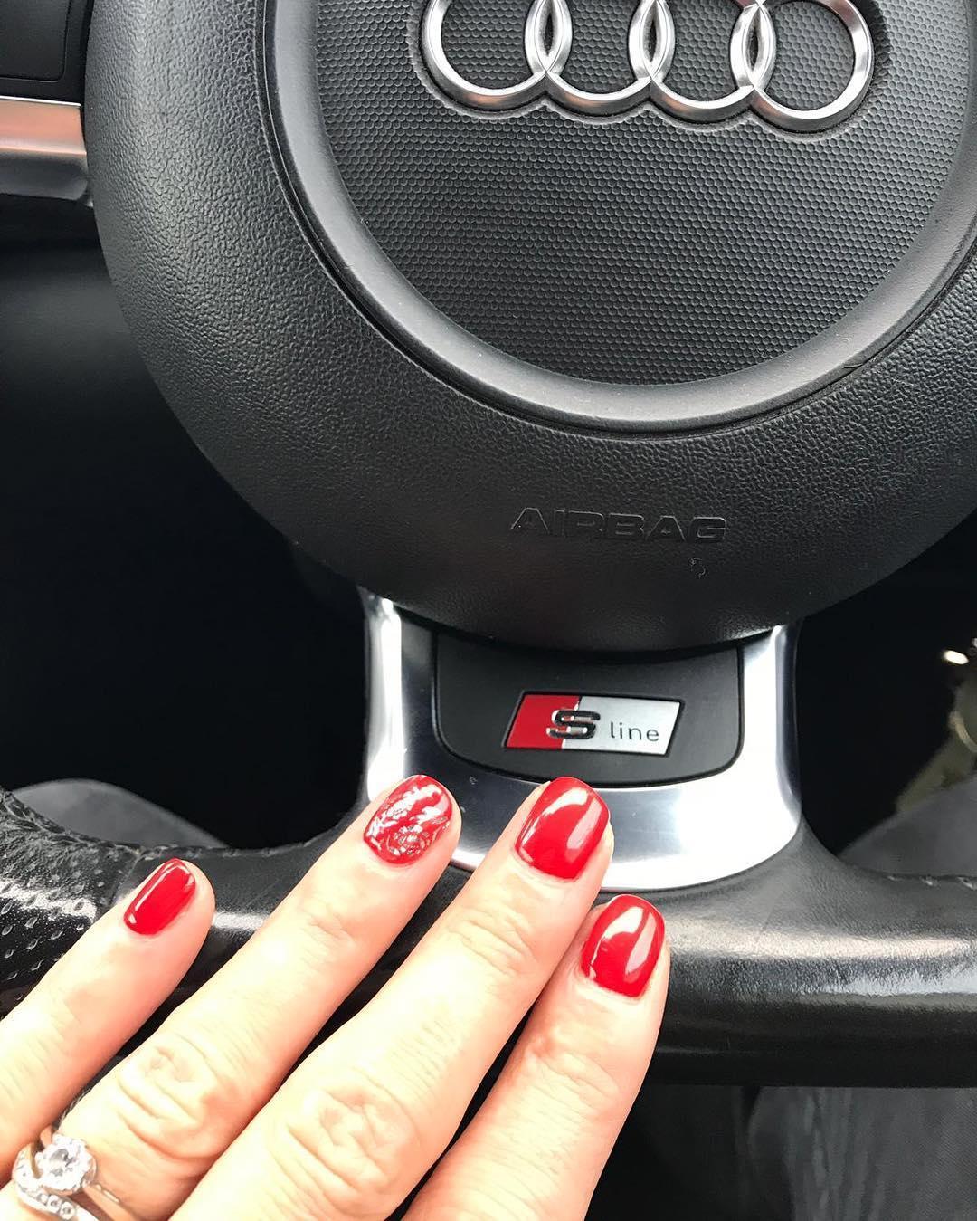 creative red nail design ideas 2019 15 - 20 Creative Red Nail Design Ideas 2019