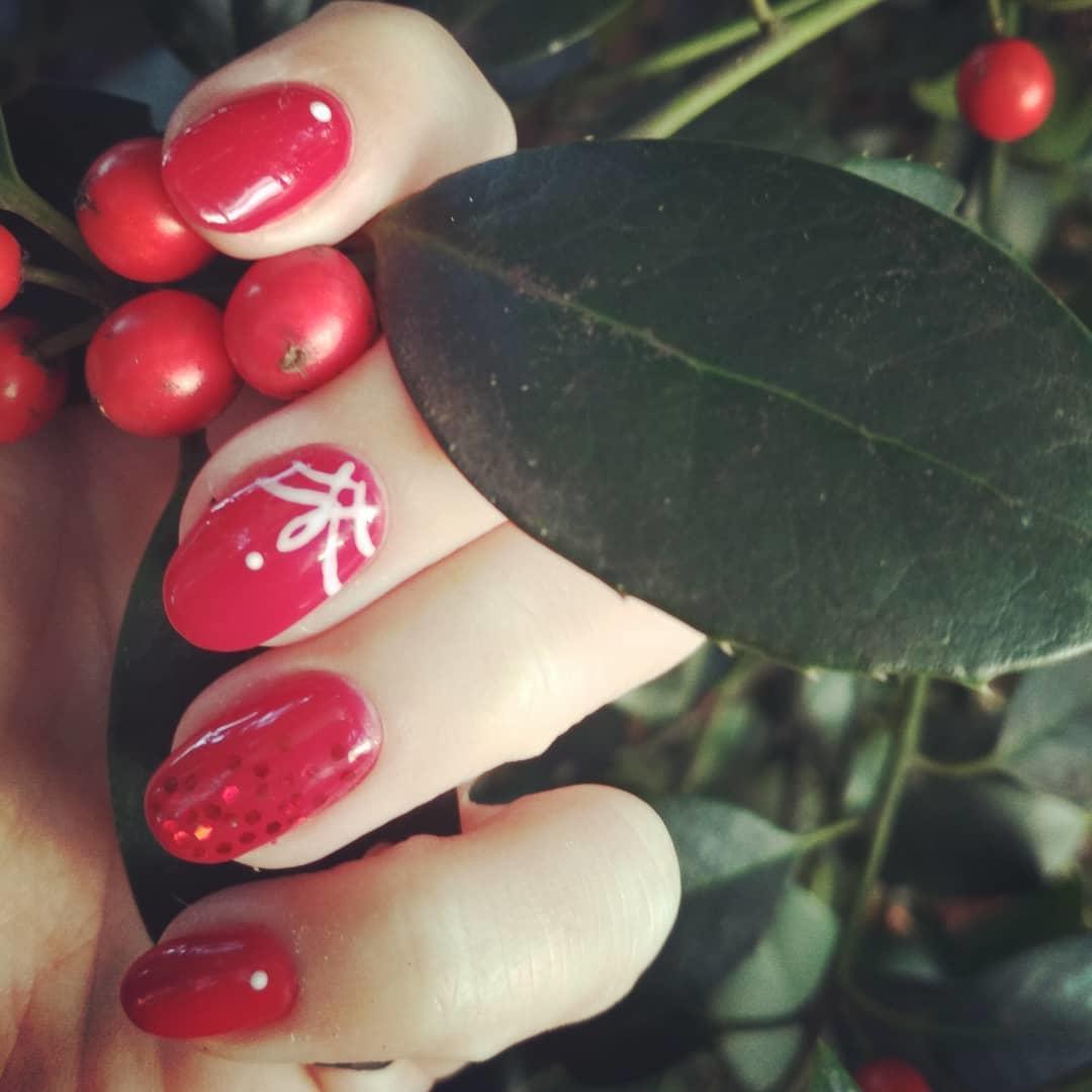 creative red nail design ideas 2019 19 - 20 Creative Red Nail Design Ideas 2019