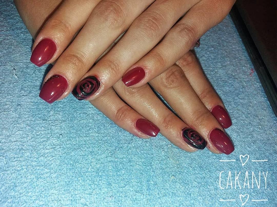 creative red nail design ideas 2019 2 - 20 Creative Red Nail Design Ideas 2019