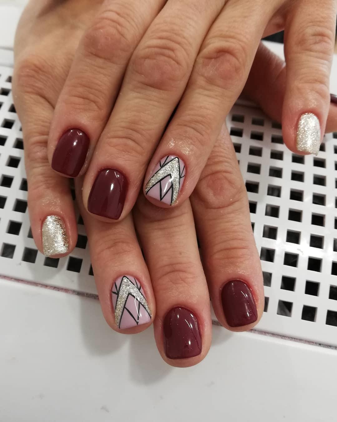 creative red nail design ideas 2019 3 - 20 Creative Red Nail Design Ideas 2019