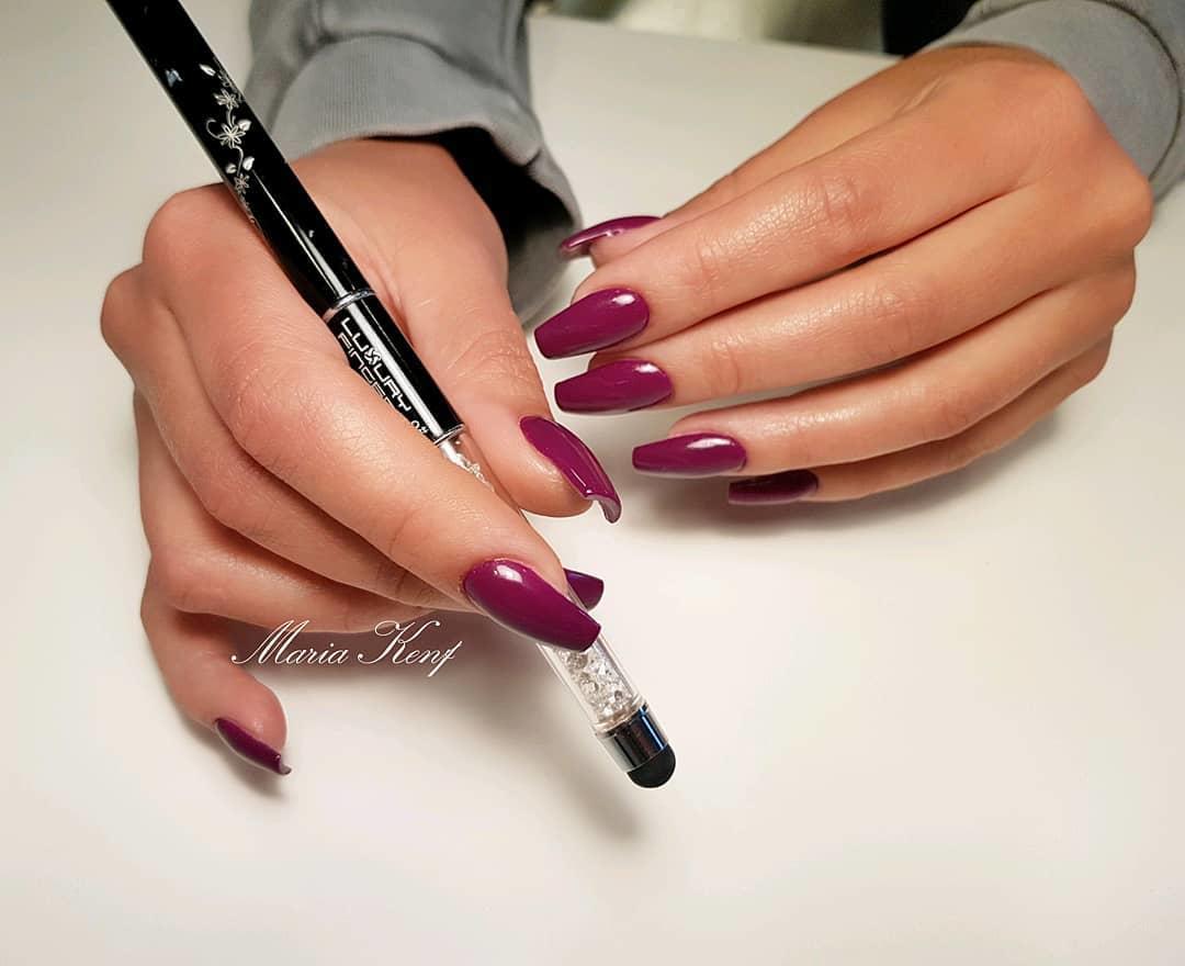 creative red nail design ideas 2019 5 - 20 Creative Red Nail Design Ideas 2019