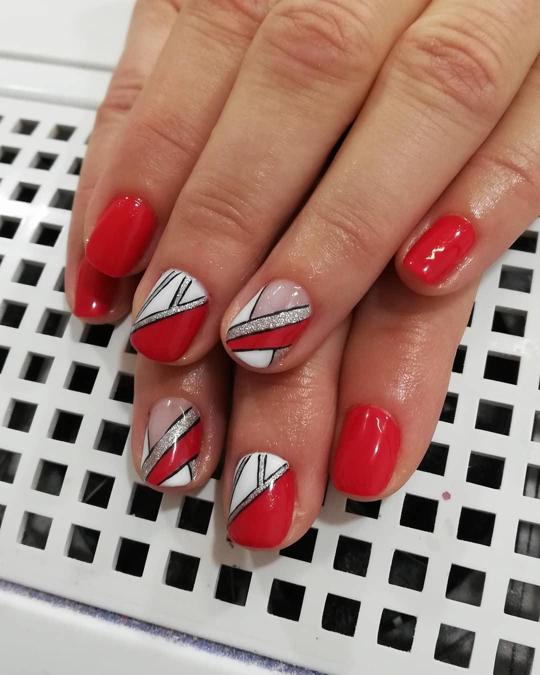 creative red nail design ideas 2019 9 - 20 Creative Red Nail Design Ideas 2019