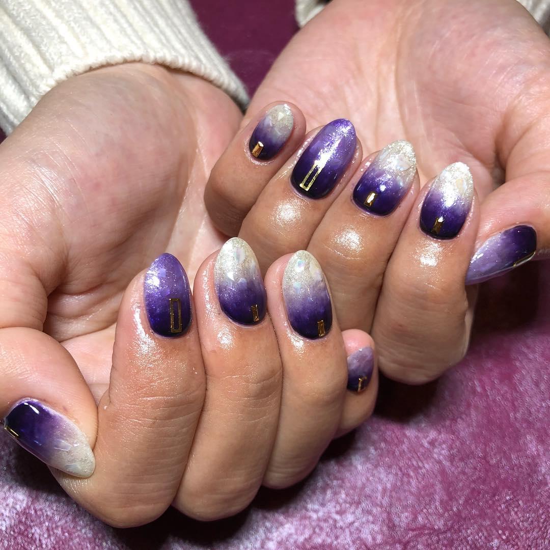 cute purple nail art ideas 2019 1 - 24 Cute Purple Nail Art Ideas 2019