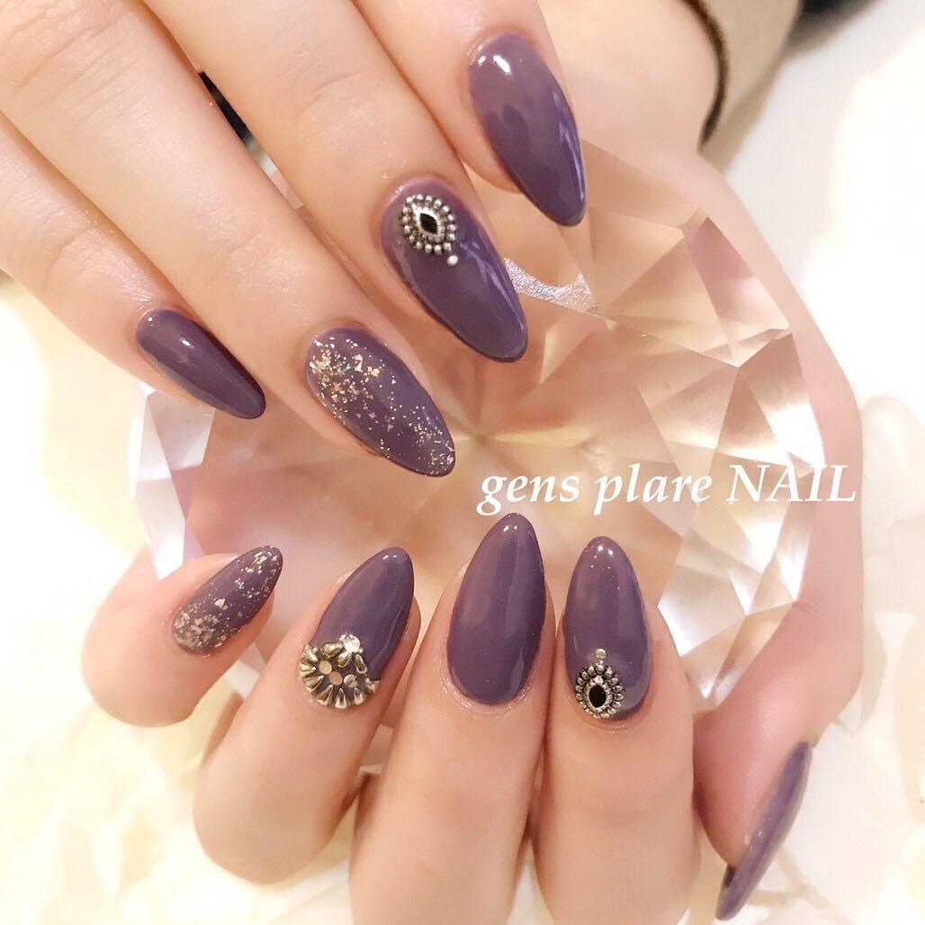 cute purple nail art ideas 2019 10 - 24 Cute Purple Nail Art Ideas 2019