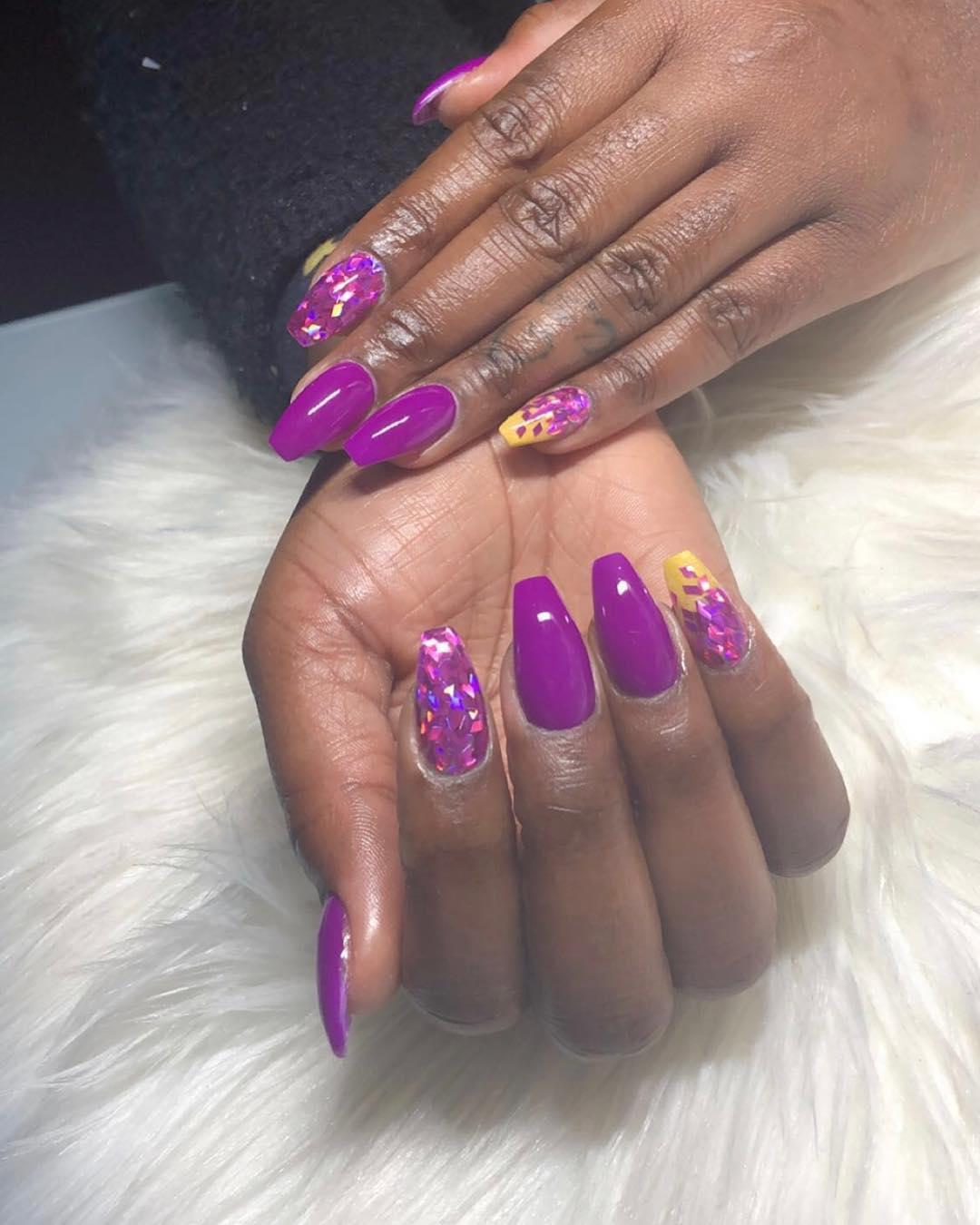 cute purple nail art ideas 2019 12 - 24 Cute Purple Nail Art Ideas 2019