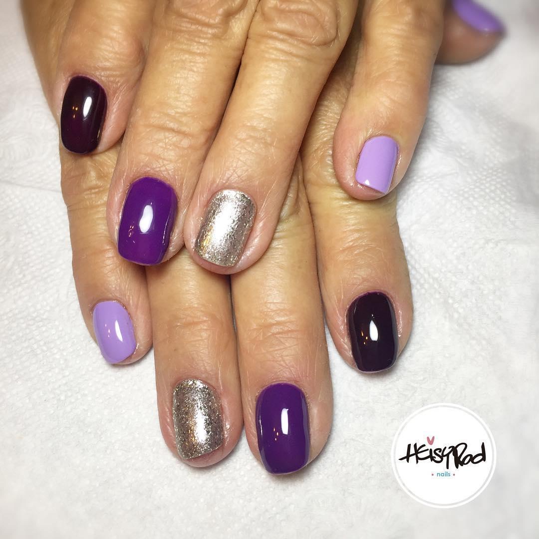cute purple nail art ideas 2019 13 - 24 Cute Purple Nail Art Ideas 2019
