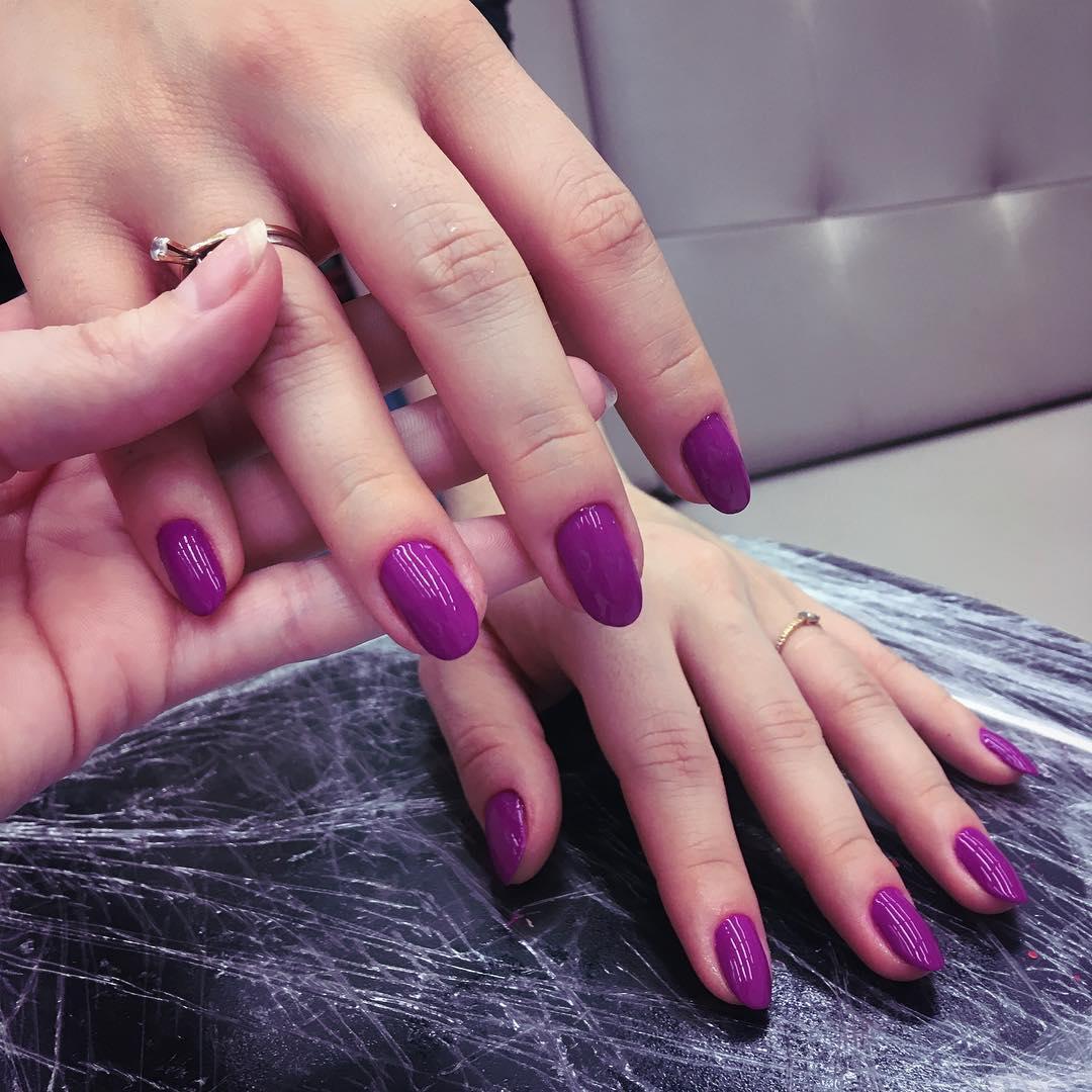 cute purple nail art ideas 2019 14 - 24 Cute Purple Nail Art Ideas 2019