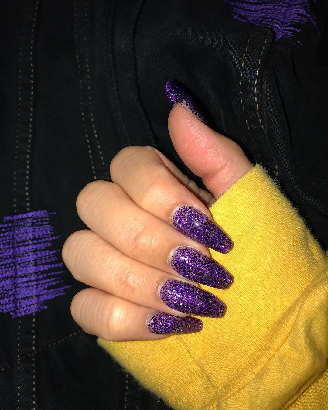 cute purple nail art ideas 2019 16 - 24 Cute Purple Nail Art Ideas 2019