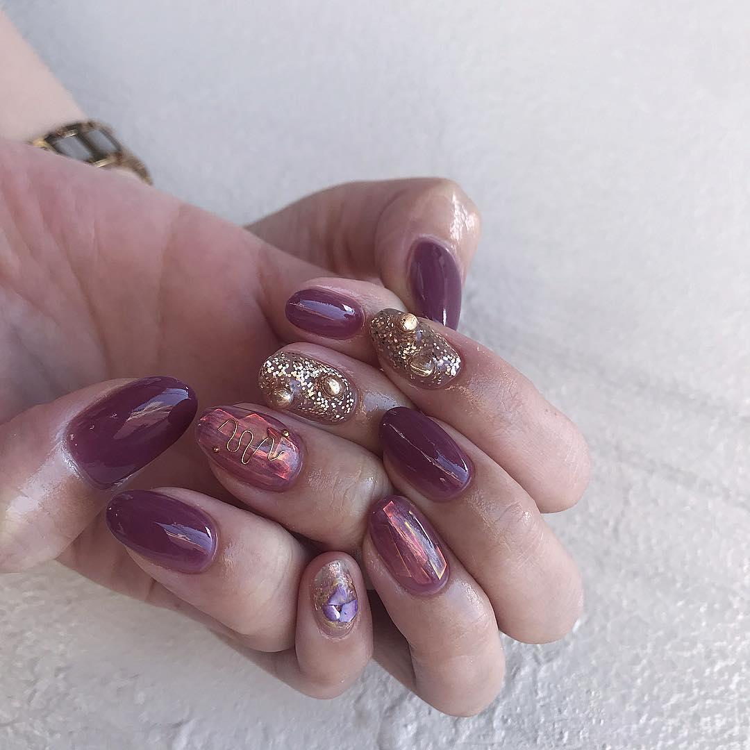 cute purple nail art ideas 2019 19 - 24 Cute Purple Nail Art Ideas 2019
