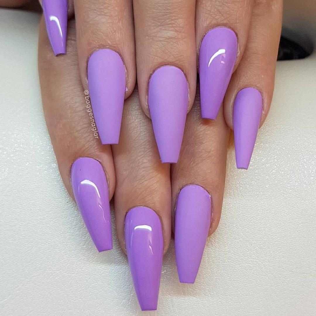 cute purple nail art ideas 2019 21 - 24 Cute Purple Nail Art Ideas 2019
