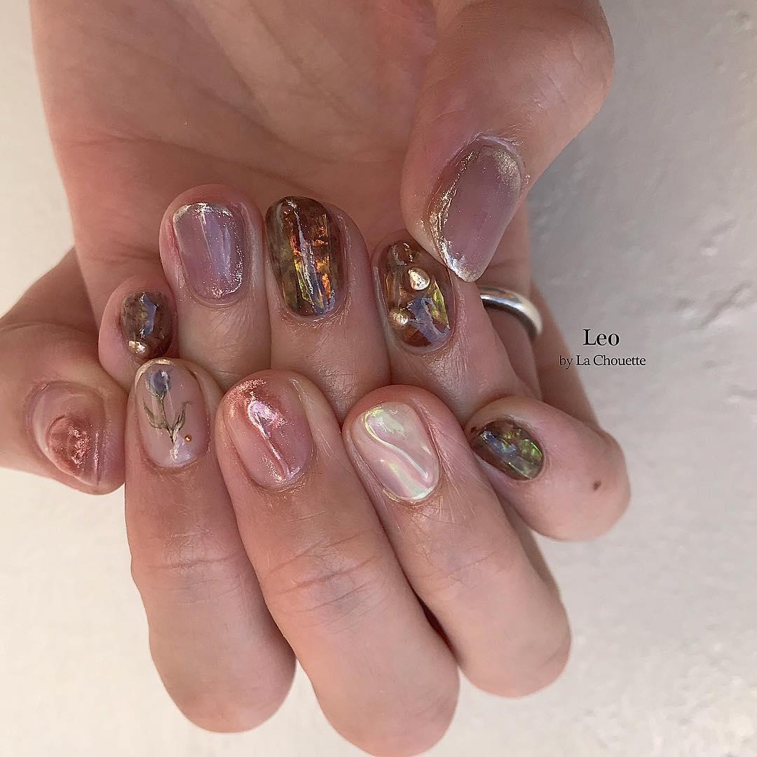 cute purple nail art ideas 2019 22 - 24 Cute Purple Nail Art Ideas 2019