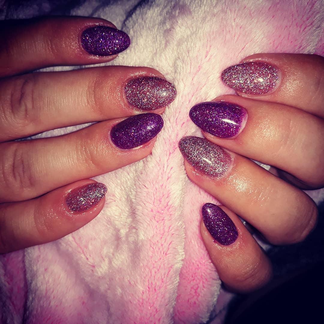 cute purple nail art ideas 2019 3 - 24 Cute Purple Nail Art Ideas 2019
