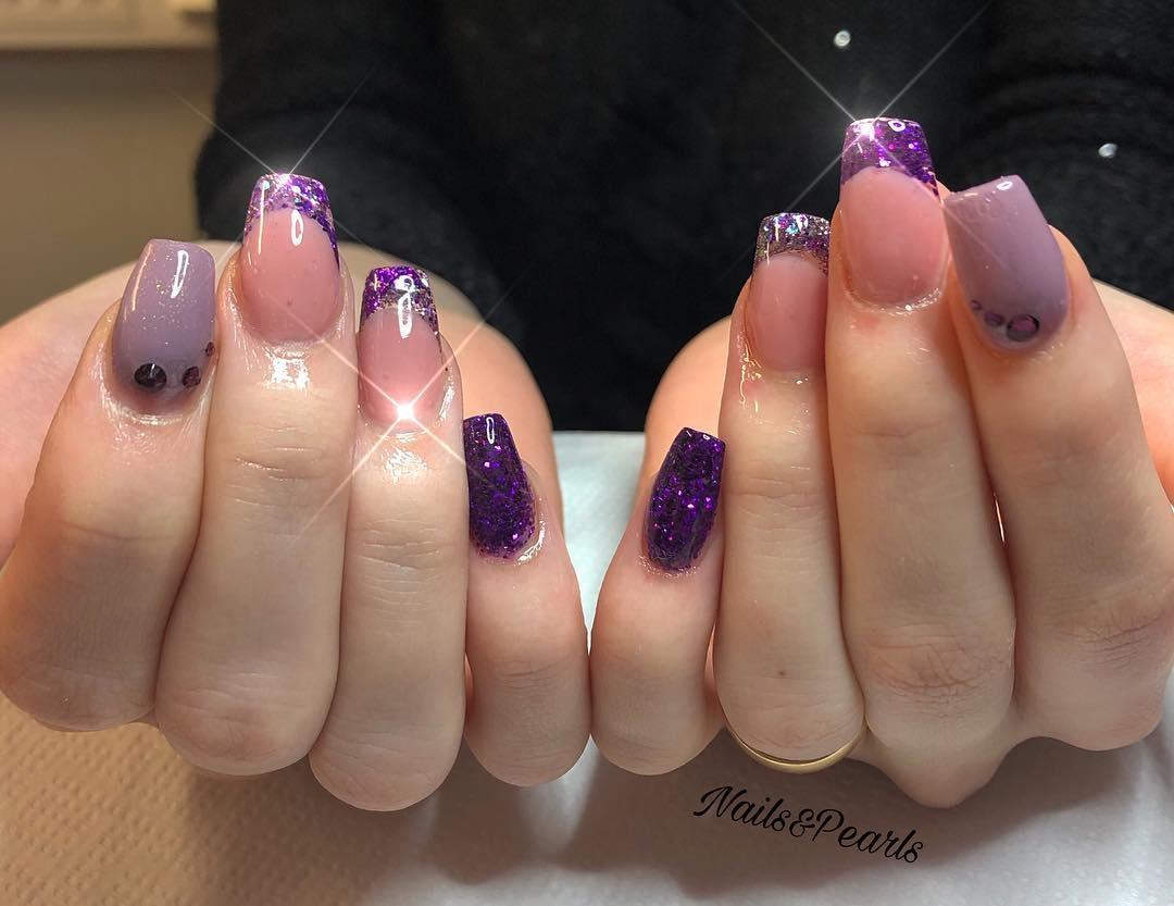 cute purple nail art ideas 2019 4 - 24 Cute Purple Nail Art Ideas 2019