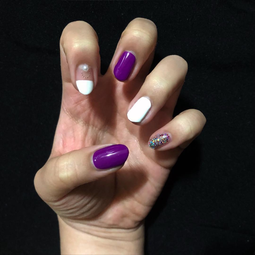 cute purple nail art ideas 2019 6 - 24 Cute Purple Nail Art Ideas 2019