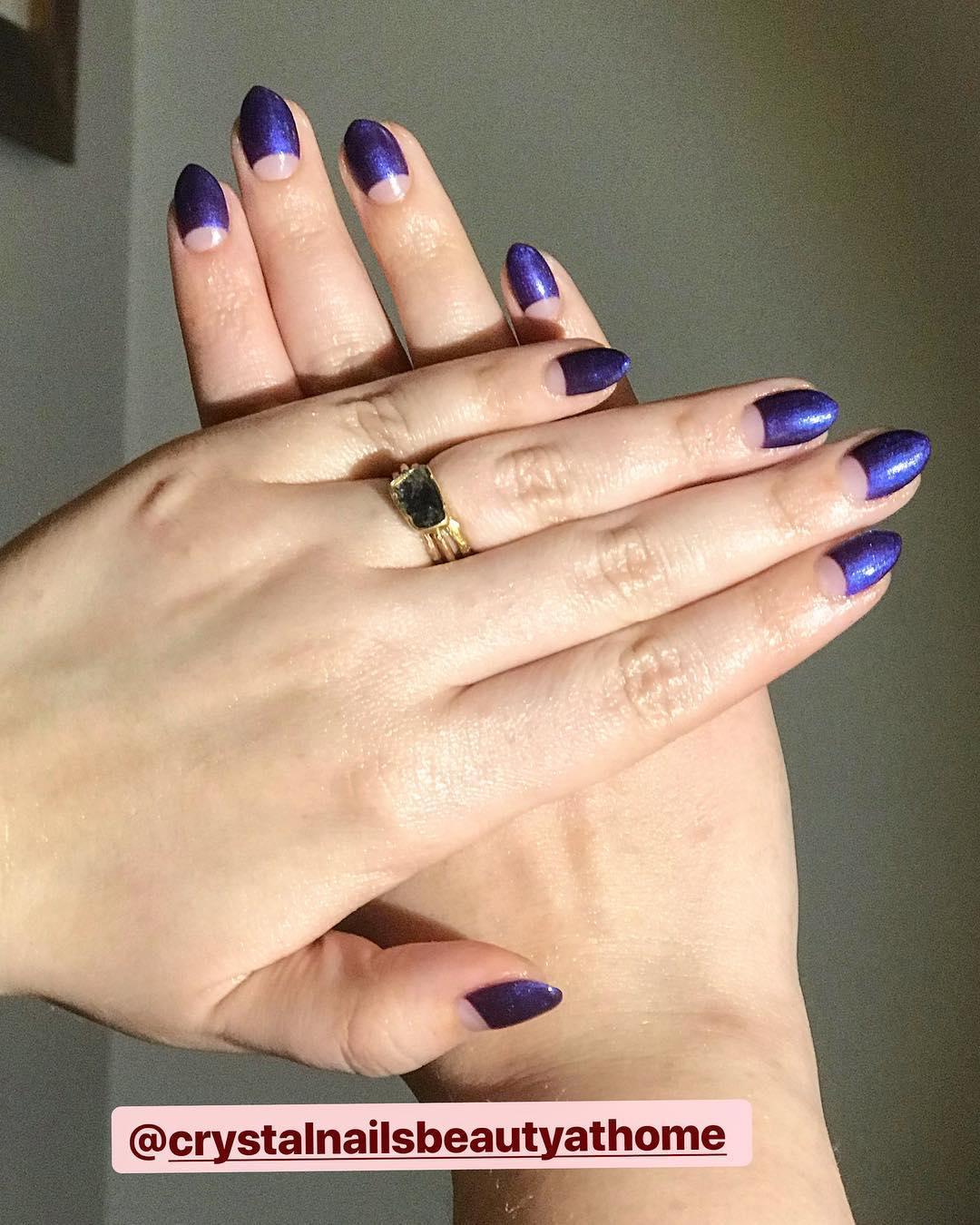 cute purple nail art ideas 2019 7 - 24 Cute Purple Nail Art Ideas 2019