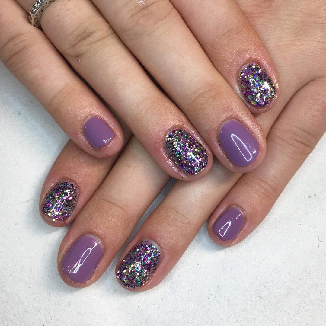 cute purple nail art ideas 2019 8 - 24 Cute Purple Nail Art Ideas 2019