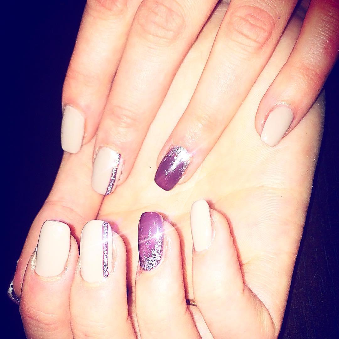 cute purple nail art ideas 2019 9 - 24 Cute Purple Nail Art Ideas 2019