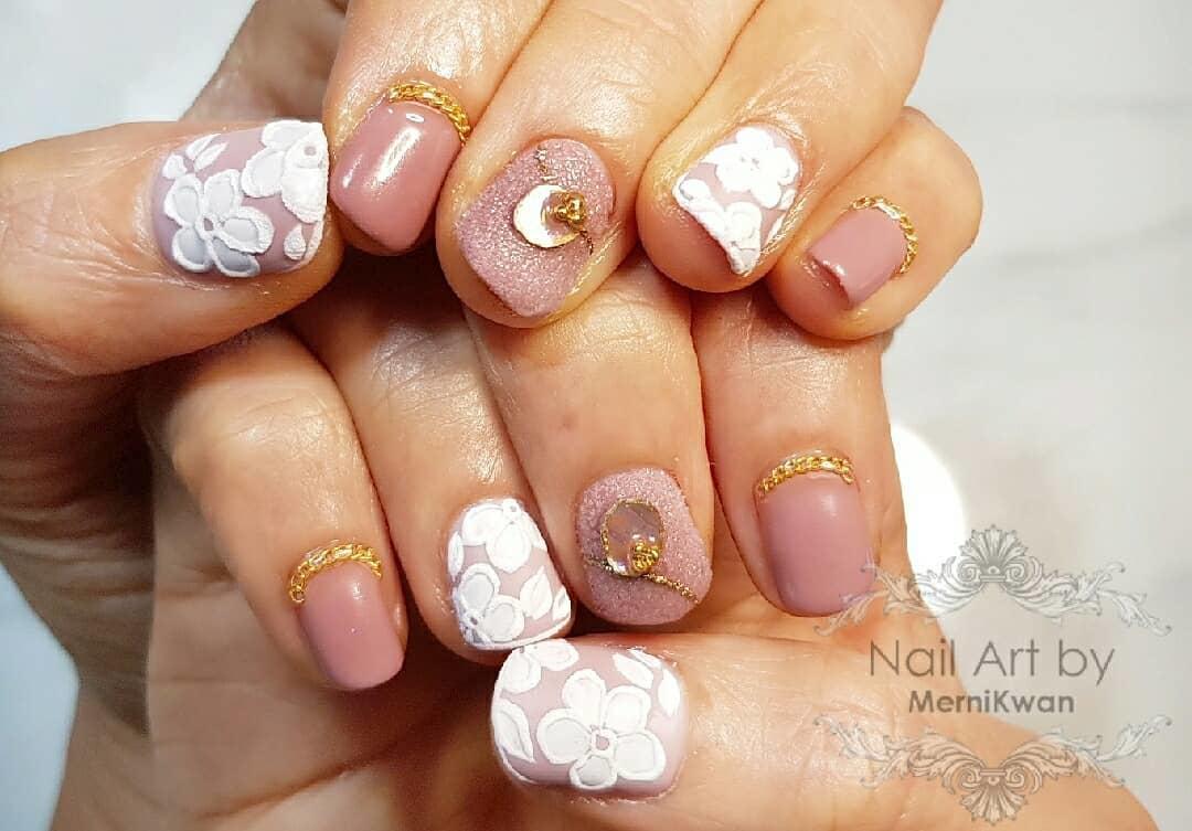 cute wedding nail art design 2019 14 - Cute Wedding Nail Art Design 2019