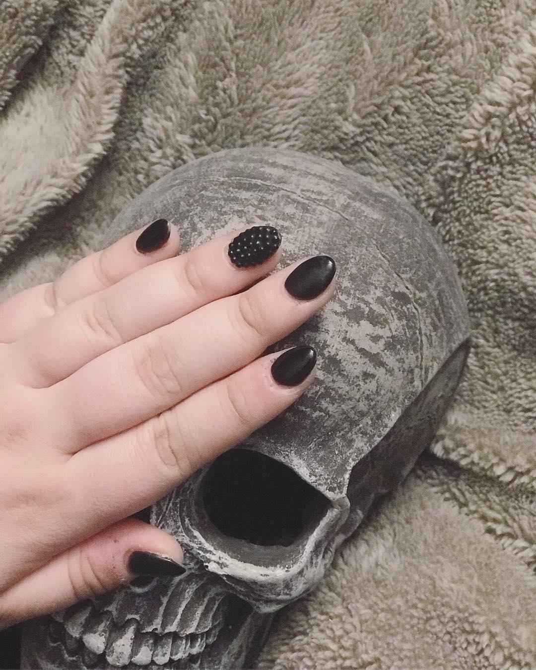 elegant black nail designs 2019 1 - Elegant Black Nail Designs 2019
