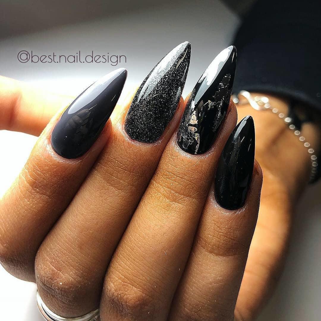elegant black nail designs 2019 2 - Elegant Black Nail Designs 2019