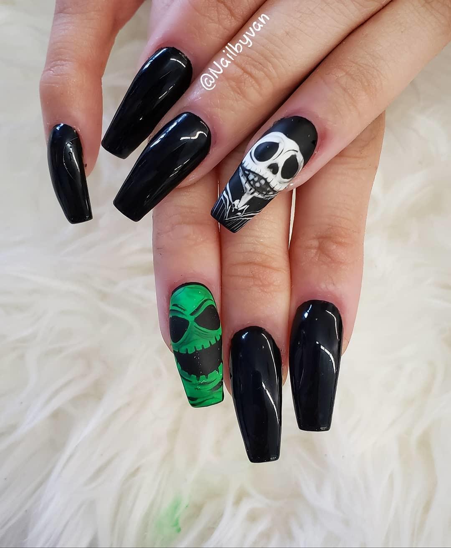 elegant black nail designs 2019 4 - Elegant Black Nail Designs 2019
