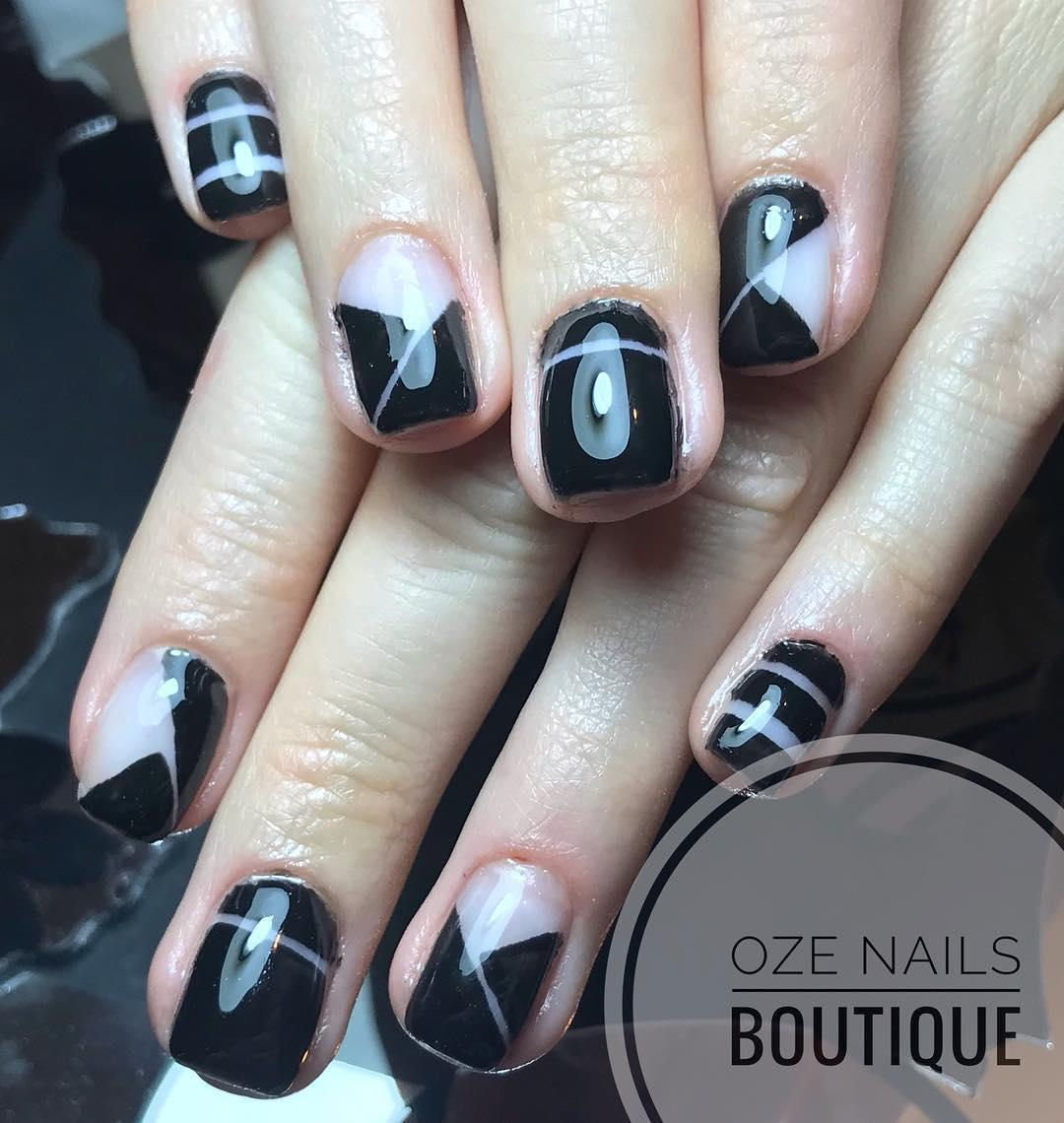 elegant black nail designs 2019 7 - Elegant Black Nail Designs 2019