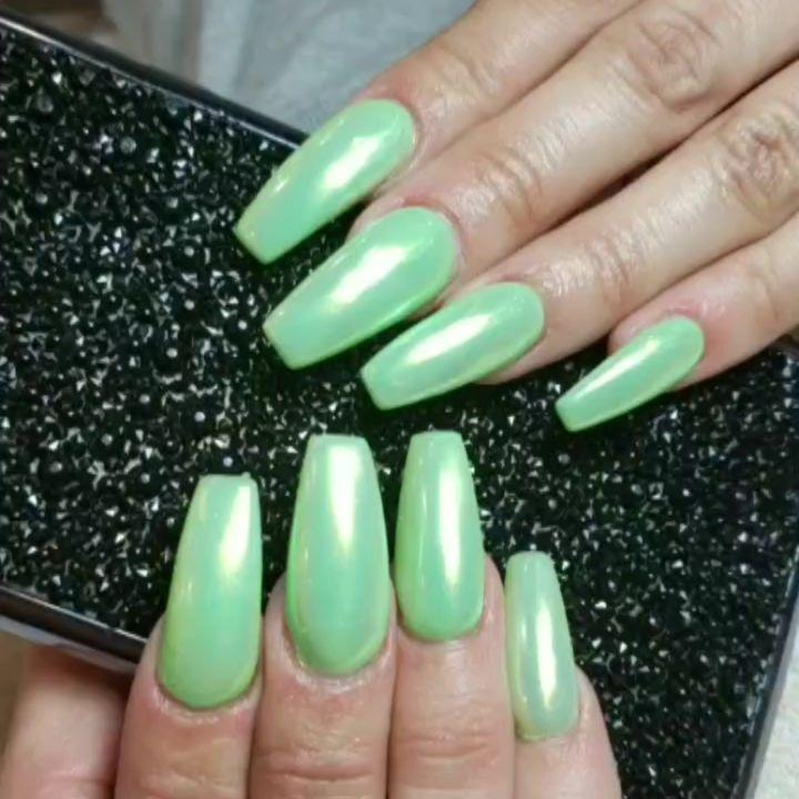 green nail art ideas and designs for 2019 1 - 17 Green Nail Art Ideas and Designs for 2019