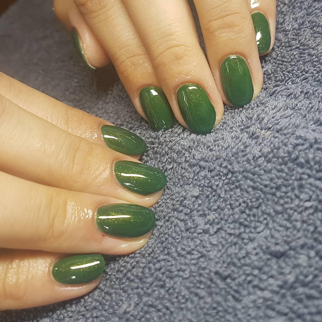 green nail art ideas and designs for 2019 11 - 17 Green Nail Art Ideas and Designs for 2019